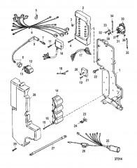Схема ЭЛЕКТРИЧЕСКИЕ КОМПОНЕНТЫ USA-0G437999/BEL-9926999 И НИЖЕ
