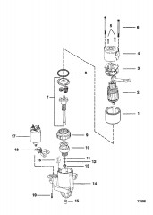 Схема СТАРТЕР (8 – 2-7/8 ДИАМ. КОЛПАЧКА)(PG 260)