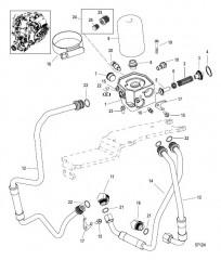 Схема Масляный фильтр