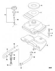 Схема Топливный бак Модели, не соответствующие EPA, сер. номер 0R448033 и выше