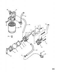 Схема Топливный насос (Пластмассовый корпус с прессованными фитингами)