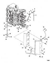 Схема Дроссельная заслонка и тяга обогатителя Крышка впускного отверстия