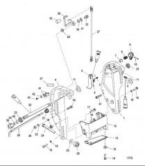 Схема Транцевый кронштейн