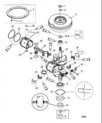 Схема Коленчатый вал (Поршни и маховик)