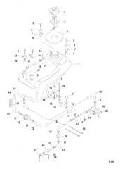 Схема Встроенный топливный бак