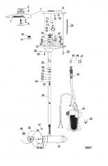 Двигатель для тралового лова в сборе (TR54FBV / TR54FBD) (12 В)