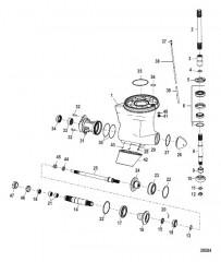 Схема Картер редуктора Конструкция I (0M963534 и ниже)