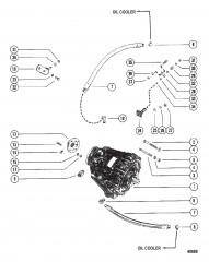 Схема Трансмиссия и связанные детали (БОРТОВЫЕ ДВИГАТЕЛИ)