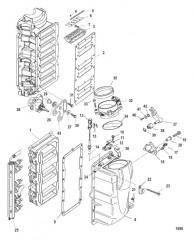 Компоненты блока подачи воздуха (Серийный номер 0T818119 и ниже)
