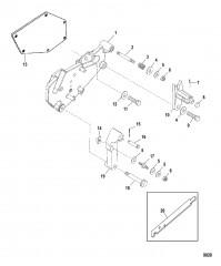 Компоненты кронштейна переключения передач (Bravo – конструкция I)