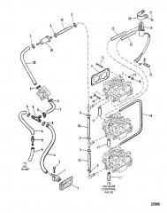 Схема ТОПЛИВОПРОВОДЫ (Исп. с карбюраторами от WMH-12A/B до WMH-28)
