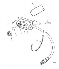 Схема Комплект ключа, обогатителя и устройства звукового сигнала (15000A 7)