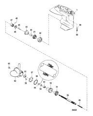 Gear Housing Assembly (Propeller Shaft)