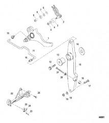 Схема Рычаг газа и кулачок дроссельной заслонки в сборе