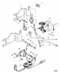 Схема Электрическая панель в сборе Серийный номер 1B490866 и выше