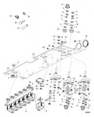 Схема Электрическая панель в сборе 0M973453 и выше