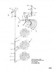 Схема ТОПЛИВОПРОВОДЫ (БЕЗ ВПРЫСКА МАСЛА)