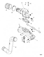Схема Exhaust Manifold Elbow And Pipes