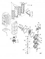 Всасывающий коллектор и блок с пластинчатыми клапанами