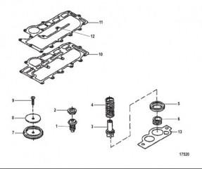 Комплект термостата (75692A6 и 75692A7)