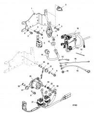 Схема Компоненты электрической панели С/н 1B884207 и ниже