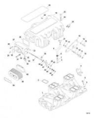 Схема Впускной коллектор / камера и компоненты