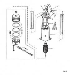 Схема Насос усилителя дифферента (Круглый двигатель Prestolite)