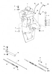 Схема Транцевая плита и трос реверса