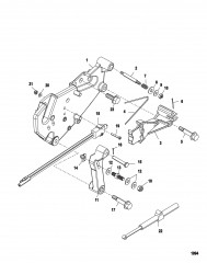 Кронштейн переключения передач (Двигатели Alpha)(С/Н-0M659999 и ниже)