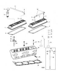Схема Головка цилиндра и крышка коромысла