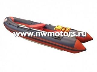 Комбинированная лодка RIB FLINC 390 красно-синий