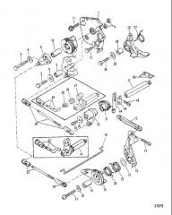Тяга газа/тяга управления переключением передач (Модели румпельной рукоятки реверса)