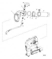 Схема Выводящая труба глушителя и выхлопные шланги 4дюйма, V-образный (2A530774 и выше)