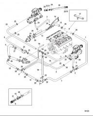 Схема Стандартная система охлаждения – BRAVO Одинарный и 3-точечный слив
