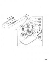 Схема Топливный бак/топливопровод (С/н: M-001189/ML-304031 и выше)