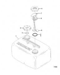 Схема Топливный бак в сборе (6.6 галл.) (Серия 826174)
