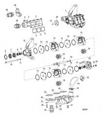 Схема Компоненты системы охлаждения (Насос забортной воды)