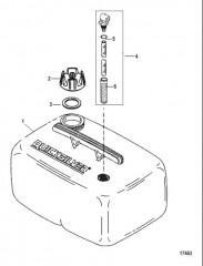 Схема Топливный бак в сборе (6.6 галл.) (Серия 859064)