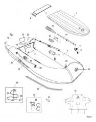 Схема Модель Dinghy (200/240) с балкой