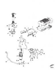 Схема Блок подачи топлива и топливная направляющая