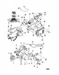 Electrical Components Control Module and Brackets