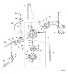 Схема Карбюратор Модели, не соответствующие EPA, сер. номер 0R448033 и выше