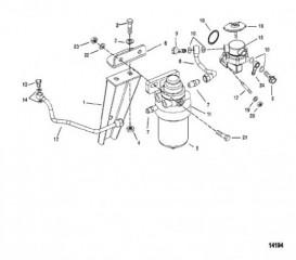 Схема Топливный фильтр (Сер. номера D725460, F306930 и выше)