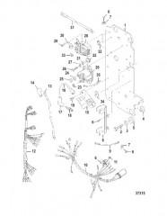 Схема ЭЛЕКТРИЧЕСКИЕ КОМПОНЕНТЫ USA-0G438000/BEL-9937000 И ВЫШЕ