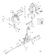 Схема Кронштейн фиксатора (Пневматическое управление дифферентом)