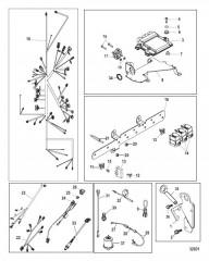 Схема Электрические компоненты Механическое управление газом и реверсом