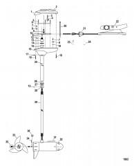 Двигатель для тралового лова в сборе (Модель BD1236) (12 В)