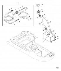 Схема Компоненты топливного бака / топливопровода