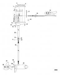 Двигатель для тралового лова в сборе (Brute 52FB) (12 В)