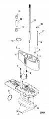 Схема Комплект удлинителя – 5 Корпус ведущего вала, 12092A18